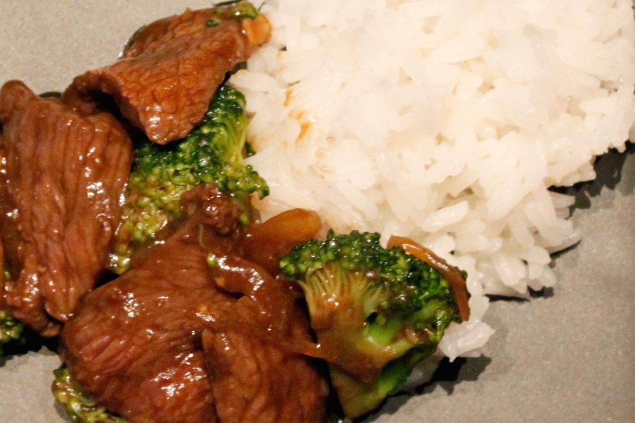 Asiapfanne Rindergeschnetzeltes mit Broccoli